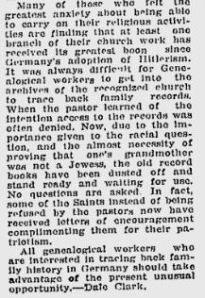 Mormonism in the New Germany. Deseret News Dec 9, 1933.