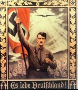 Hitler depicted as savior to Germany